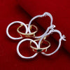silver plated earrings for women Tripe Ring drop brinco wedding jewelry