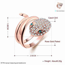 Austrian Crystal rings for men Snakeheads inlaid crystal anel prices in euros