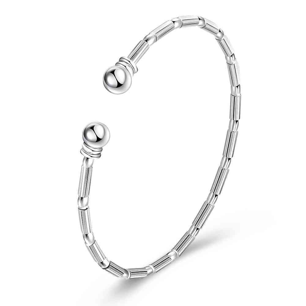 silver plated Multi cut men bracelet margarida SMTB231