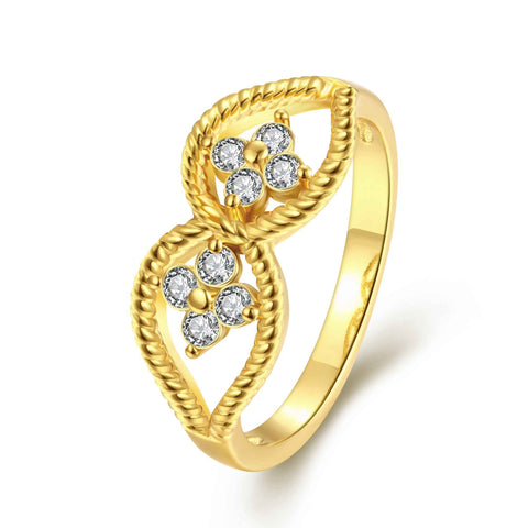 Sale Austrian Crystal engagement ring Hollow inner flowering ring men joyas