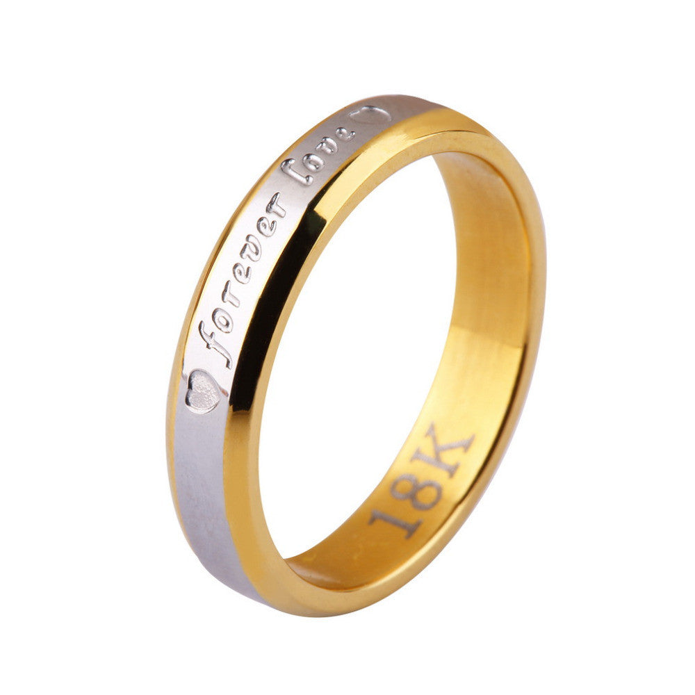 silver forever love ring. jewellry 18K gold golden rings ...