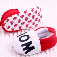 I Love MOMDAD Lovely Baby Girls Boy Shoes Round Toe Flats Soft Slippers Toddler Shoes