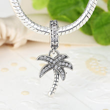 Jewelry Making Accessories 925 Sterling Silver White Coconut Tree Fit Bracelet & Pendant Necklace S041