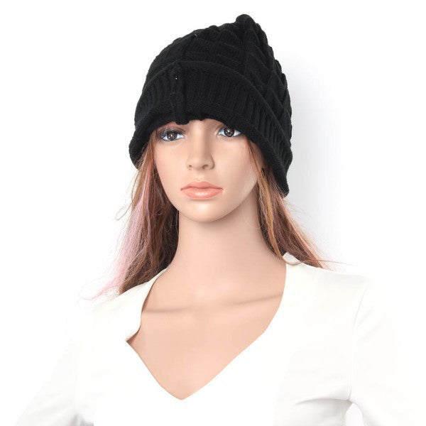 Knitted Hats for   Baggy BeanieS Oversize  Hat Ski Slouchy Chic Cap Skull