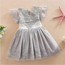 Lovely Baby Girl Lace Tutu Dress  Hollw Out Dresses Kids Formal Wedding Party Clothes