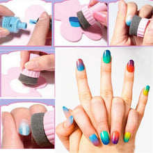 1 set Nail Art Sponge Stamp Stamping Polish Template Transfer icure DIY Tools