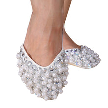Bling Diamond Rhinestone Peals Half Sole Sandal Lyrical Belly Dance Shoes