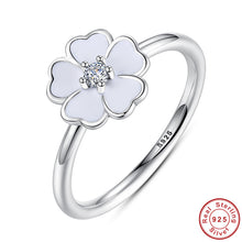 Collection Primrose Stackable Ring White Enamel Ring Compatible with Original VRC Jewelry 925 Sterling Silver A7136