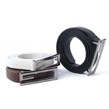 G Shape Alloy Buckle Thin Faux Leather Waist Belt Strap Waistband