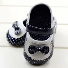 Style Black And White Dot Bow Slip Baby Kids Toddler Shoes Soft Bottom Shoe