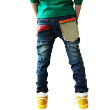 Toddler Kid Cool Boy Jeans Denim Blue Close-fitting Pant Trousers 2-7Y Child