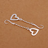 Fashion silver plated earing GU Heart drop Earring silver plated Earrings SMTE063