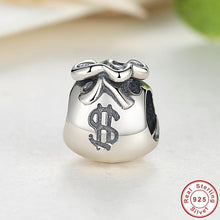 Year  925 Sterling Silver Small Beautiful Money Bags Charms Fit Pandora Bracelet & Necklace Jewelry Accessories S198