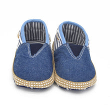 born Baby Boy Girl Canvas Jeans Denim Soft Sole Crib Shoes Walking Shoes Slip-On First Walker 0-18M Lisa's Store