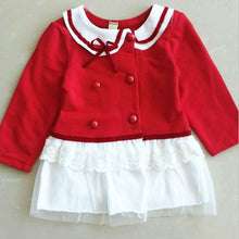 born Baby Girls Long Sleeve Dress Shool Girl Shirts Dress Kids One Piece Dresses Outfits 0-24M