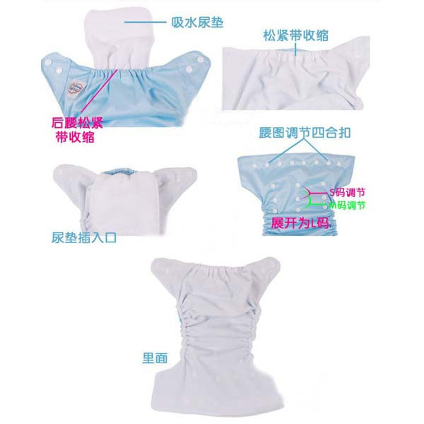 born Reusable Baby Cloth Diaper Nappy Cover Liners inserts 3 Layers HQ