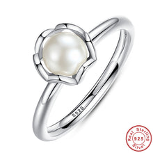 Original 925 Sterling SILVER RING WITH WHITE FRESHWATER CULTURED PEARL Jewelry A7118