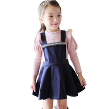 Pretty Girls Kids Baby Long Sleeve Lace Ruffled Collar Cotton Shirts Tops 0-4Y