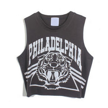 Punk  Sleeveless Tiger Printed Tank Top Vest Blouse Gothic Clubwear Party T Shirt