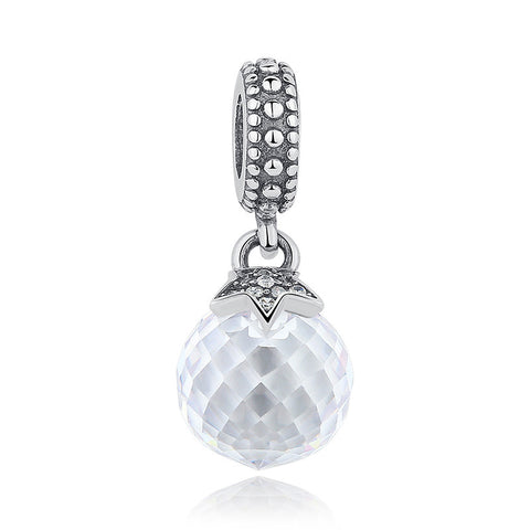 Real 925 Sterling Silver Moon & Star, Midnight Blue Crystal & Clear CZ Charm Pendant Fit Pandora Necklace & Bracelet S081