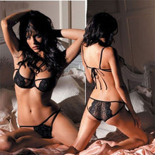 Sexy  Lace Hollow Underwear Babydoll Lingerie  G-string Sleepwear 2Pcs Set