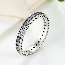 Simple Style Classic Round Shape Crystals Original 925 Sterling Silver Finger Ring Authentic Jewelry A7119