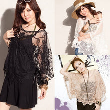 Beach  Embroidery Batwing Sleeve Loose Blouse Shirts