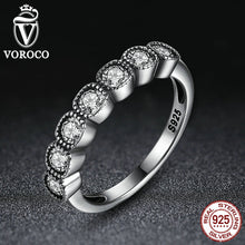 4MM Classic 925 Sterling Silver Alluring Cushion, Clear CZ Finger Ring Compatible with VRC Wedding Jewelry A7604