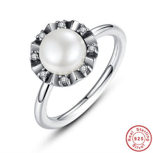 925 Sterling Silver Everlasting Grace Stackable Finger Ring with Pearl