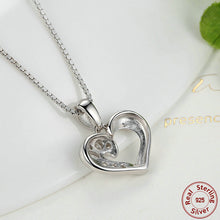 925 Sterling Silver Romantic Silver Heart Pendant Necklace for Women Good Quality Fashion Jewelry Accessories N028