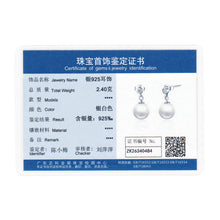 925 Sterling Silver With White Round Pearl Push Back Stud Earrings Compatible with VRC Women Pearl Jewelry S474