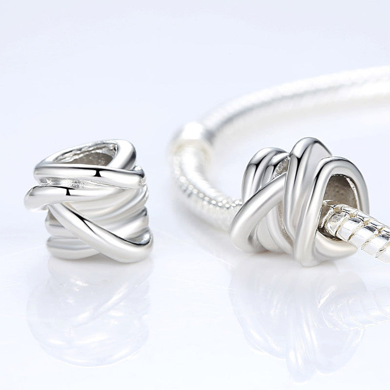 Antique Silver Plated BRAIDED Entwine Charm Fit Pandora Bracelet Necklace Jewelry Making A5240