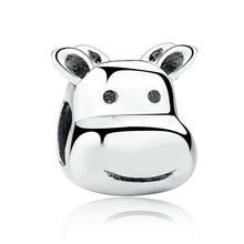 Authentic Silver Plated Lovely Animal Cow Cattle Beads Charms Fit Pandora Fashion Bracelets Women DIY Accessories P5317