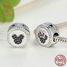 Classic 925 Sterling Silver Bow Knot Minni Cartoon Bead Charms Fit Pandora Bracelets Beads & Jewelry Making S381