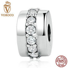Classic 925 Sterling Silver Shining Path, Clear CZ Charms fit Pandora Bangles & Bracelets Women Fashion Jewelry C032