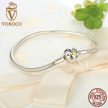 Exclusive Snake Round Chain Bracelet Real 925 Sterling Silver DIY Fashion Jewelry 18CM 20CM B001