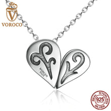 925 Sterling Silver Pink Heart Pendant 1 Style with 6 Kinds Wearing Fashion Necklace for Women DIY N053