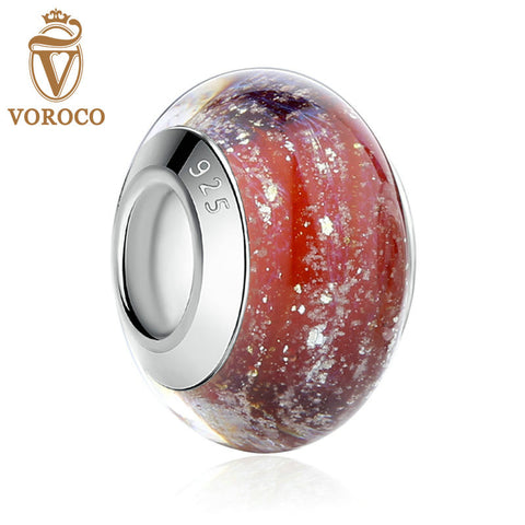 Silver Plated Red European Murano Glass Beads fit Pandora Bracelets & Necklaces Jewelry A6370