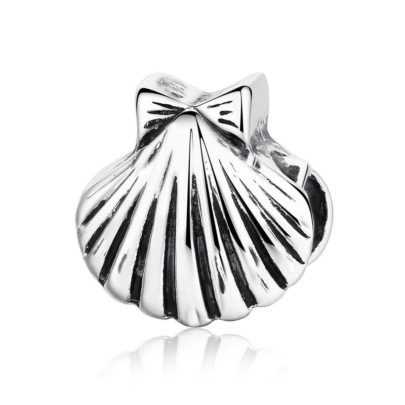 Silver Plated Sea Shell Vivid Charms Fit Pandora DIY Bracelets & Bangles for Women Accessories P5314