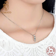 Smooth 925 Sterling Silver Lovely Cat Long Tail Necklaces & Pendants S925 Fashion Jewelry N032