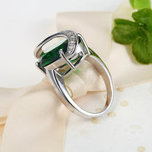 Party  Ring Platinum Plated Oval Stone & Curved Big Stone Midi Finger Rings for Women Bague Femme Bijoux R208