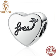 Romantic 925 Sterling Silver Heart Of Freedom Love Screw Charms fit Pandora Bracelets Women Fashion Jewelry C031