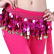 Belly Dance Hip Skirt Scarf Wrap Crystal Sequins Belt Coins Dancewear