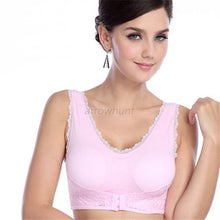 Comfy Lace Seamless fitness Padded Bra Vest Tanks Racerback Workout Crop Top