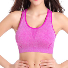 Fitness exercise Bra Stretch Seamless Racerback Padded Workout Tank Top C69