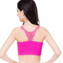 Lace Stretch Workout fitness Leisure Bra GymPadded Bra Crop Top Bandeau Brassiere