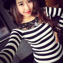 Long Sleeve Knitted Jumper Sweater Tops Pullover Top Casual Tee T shirt T34