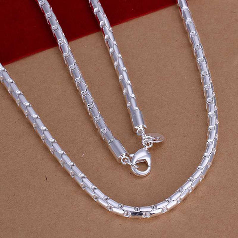 Fashion silver plated Chain Round Frame Necklaces Pendants For Women Men jewelry SMTN189