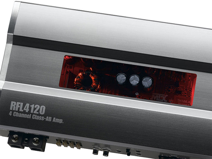 Now available MTX RFL4120 Class AB 4 channel amplifier!