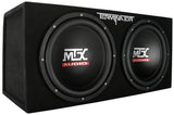 "Terminator Series Dual 12"" 400W RMS Sealed Enclosure + Mono Block Amplifier"